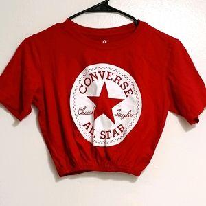 CONVERSE ALL STAR CROP TOP TSHIRT S